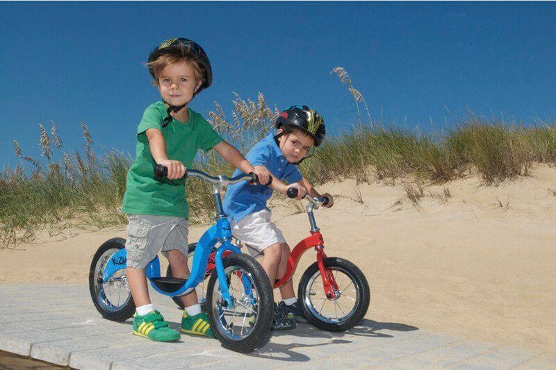 Cute kids on the best balance bikes for toddlers