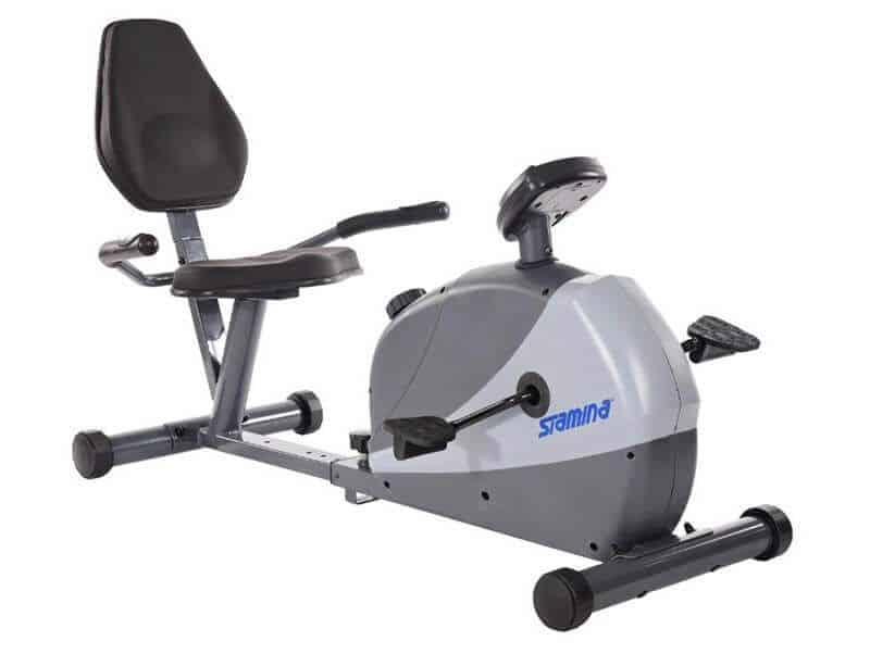 Recumbent exercise bikes offer a supporting chair for a comfortable seat