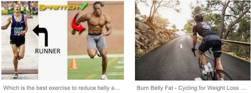 Which is better for losing belly fat running or biking